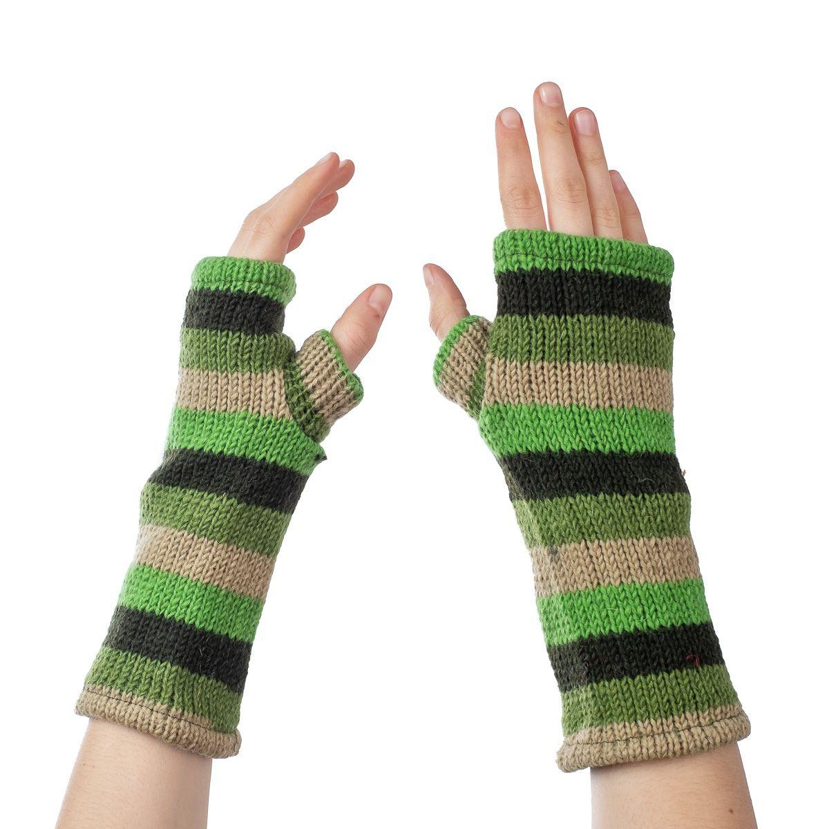 Vlněné návleky na ruce Lopika Spruce