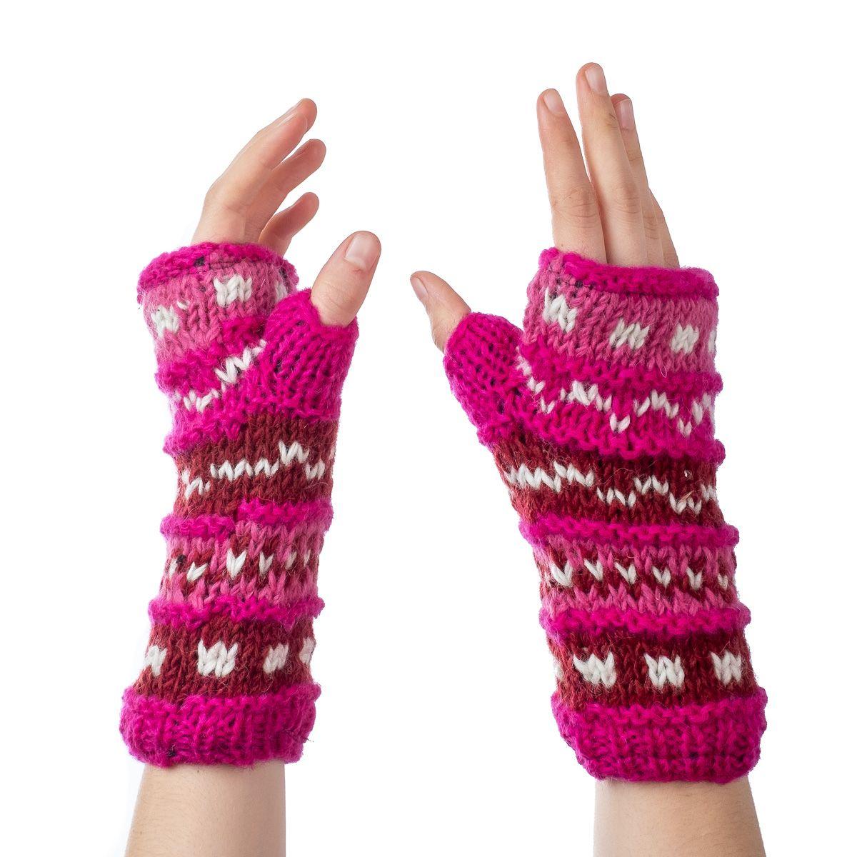 Vlněné návleky na ruce Sandip Candy