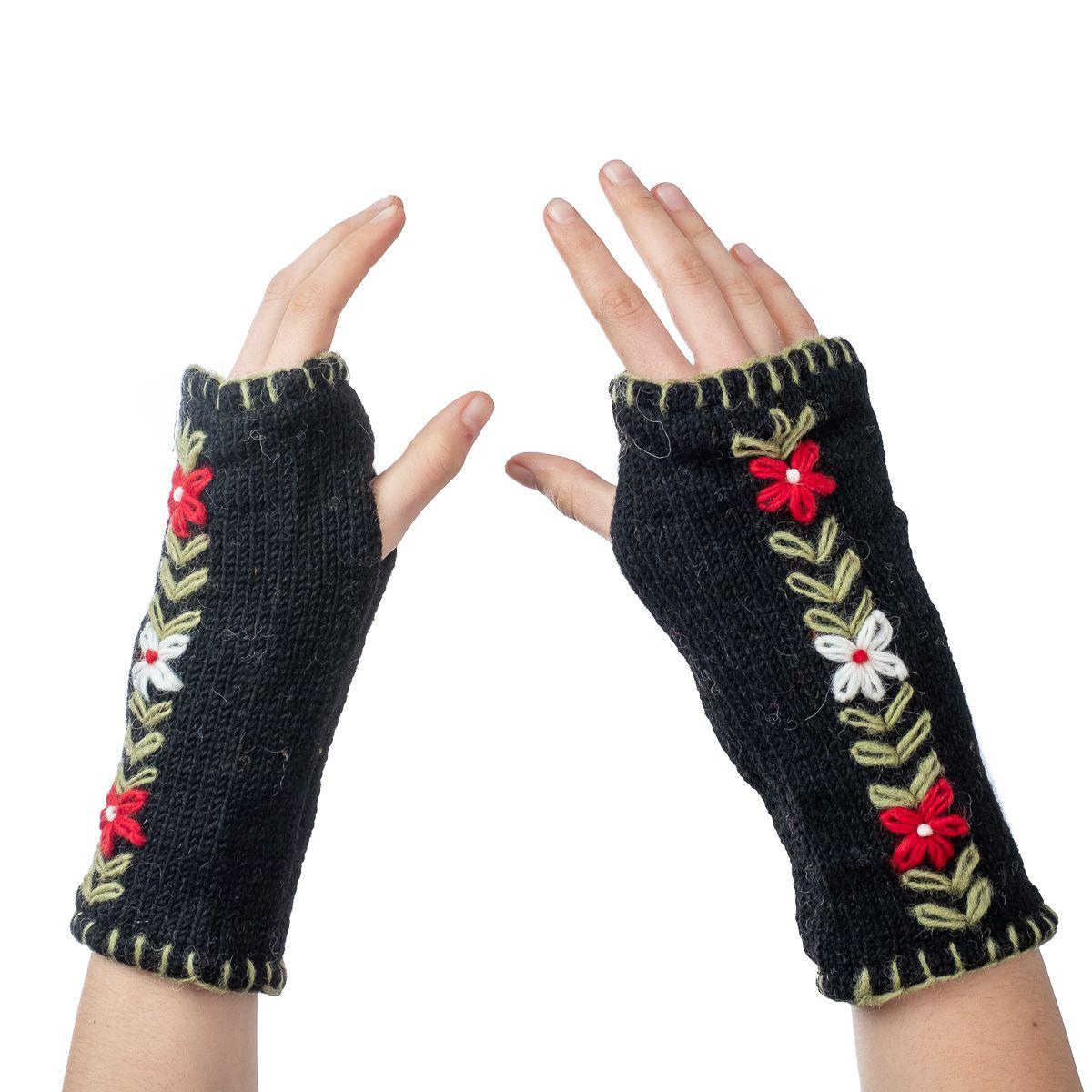 Vlněné návleky na ruce Umanga Hitam
