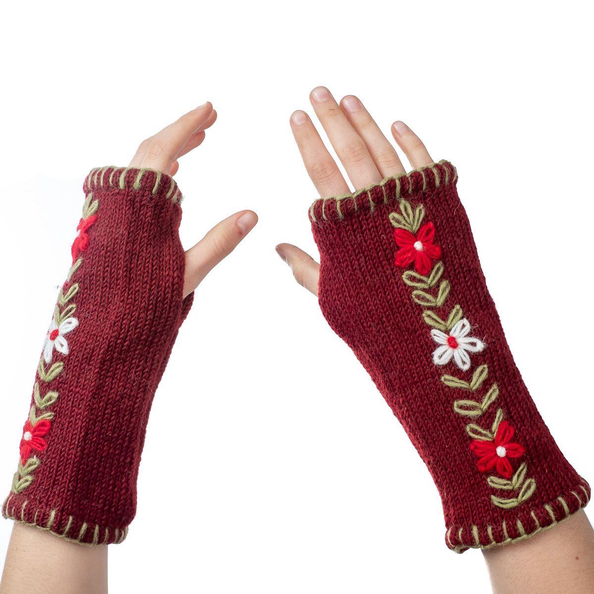 Vlněné návleky na ruce Umanga Merun