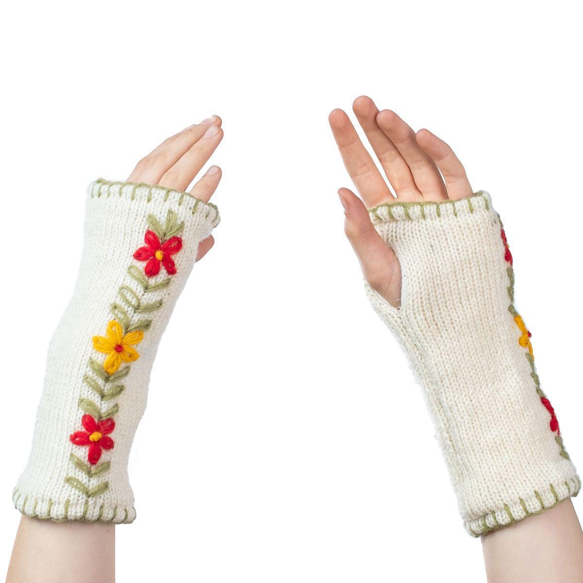 Vlněné návleky na ruce Umanga Putih