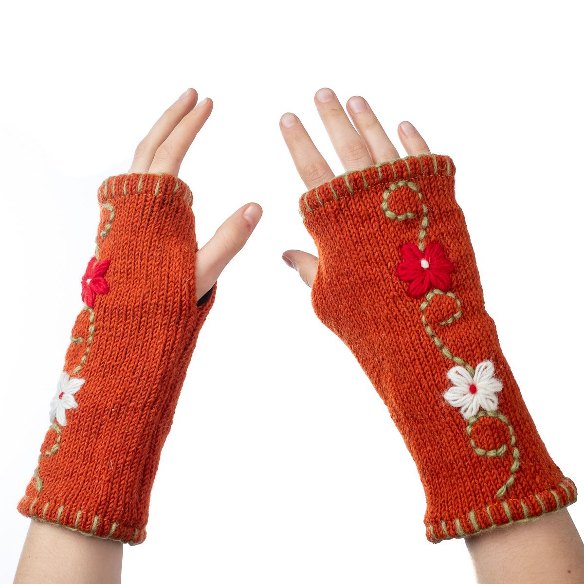 Vlněné návleky na ruce Umanga Selasa