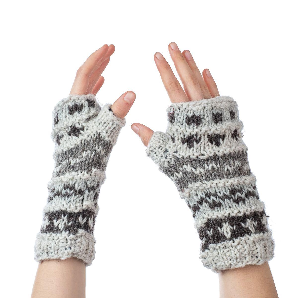 Vlněné návleky na ruce Sandip Snowstorm
