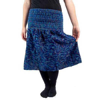 Akrylová sukně Omala Indigo