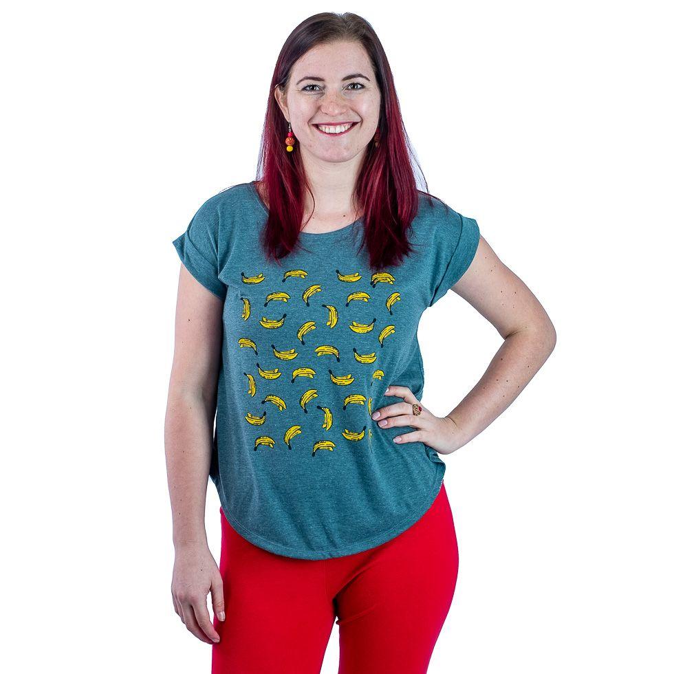 Dámské tričko s krátkým rukávem Darika Bananas Green
