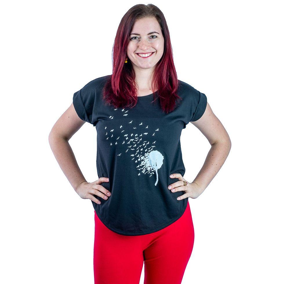Dámské tričko s krátkým rukávem Darika Bird Dandelion