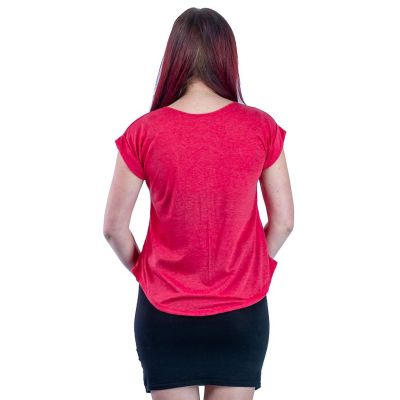 Dámské tričko s krátkým rukávem Darika Cacti Red
