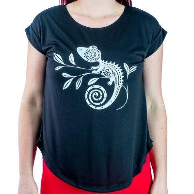 Dámské tričko s krátkým rukávem Darika Chameleon Black