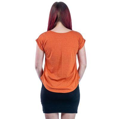 Dámské tričko s krátkým rukávem Darika Giraffe Family Orange