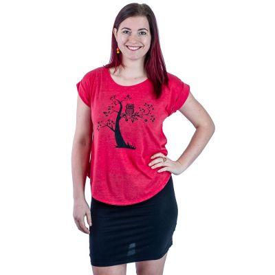 Tričko Darika Solitary Owl Red