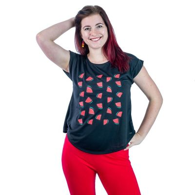 Dámské tričko s krátkým rukávem Darika Watermelons Black