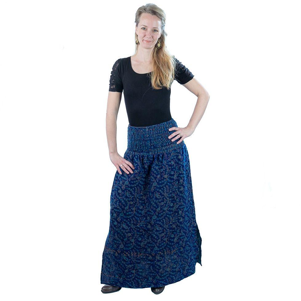 Dlouhá akrylová sukně Terumi Indigo