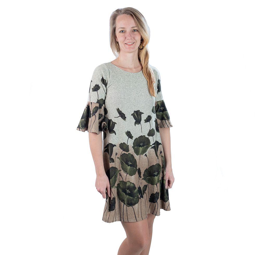 Jarní / podzimní šaty Hijau Madat Alang