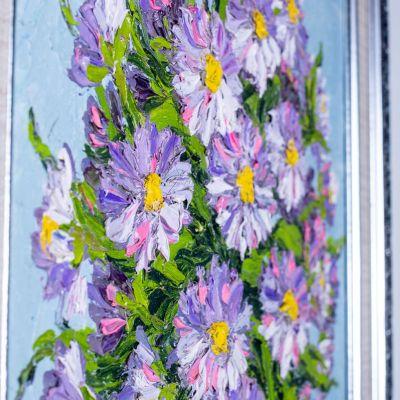 Obraz Váza fialových květin