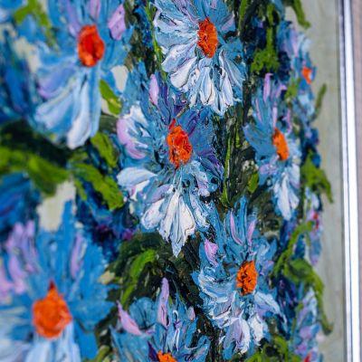 Obraz Váza modrých květin