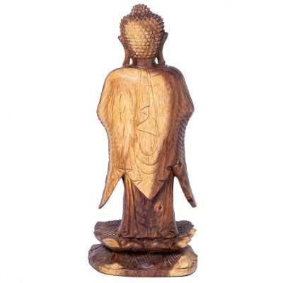 Vyřezávaná dřevěná soška Stojící Buddha