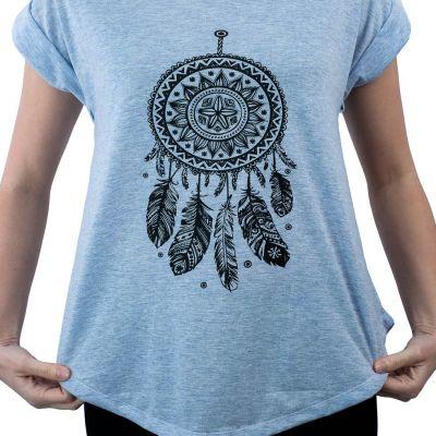 Dámské tričko s krátkým rukávem Darika Dream Web Bluish