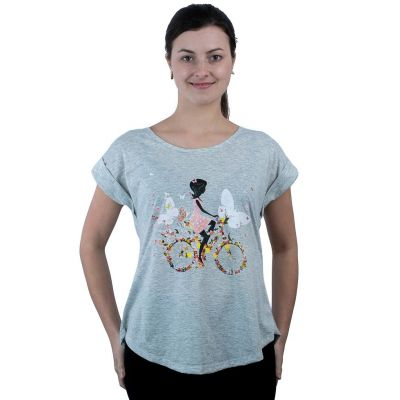 Tričko Darika Fragrant Bike Grey