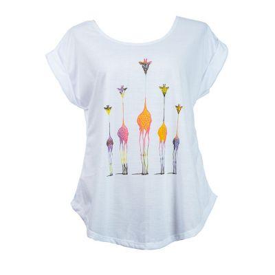Tričko Darika Giraffe Family Multicolour