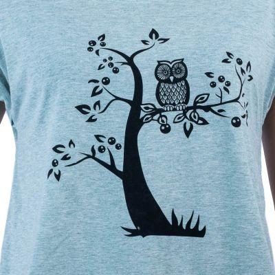 Dámské tričko s krátkým rukávem Darika Solitary Owl Greenish