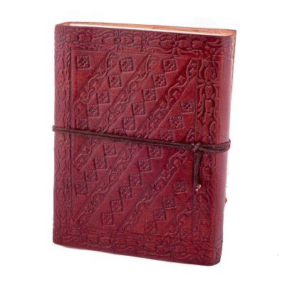 Kožený zápisník Páv India
