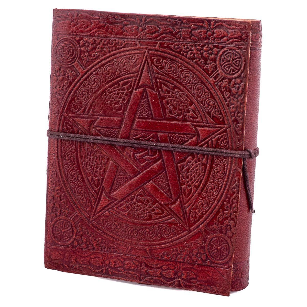 Kožený zápisník Pentagram India