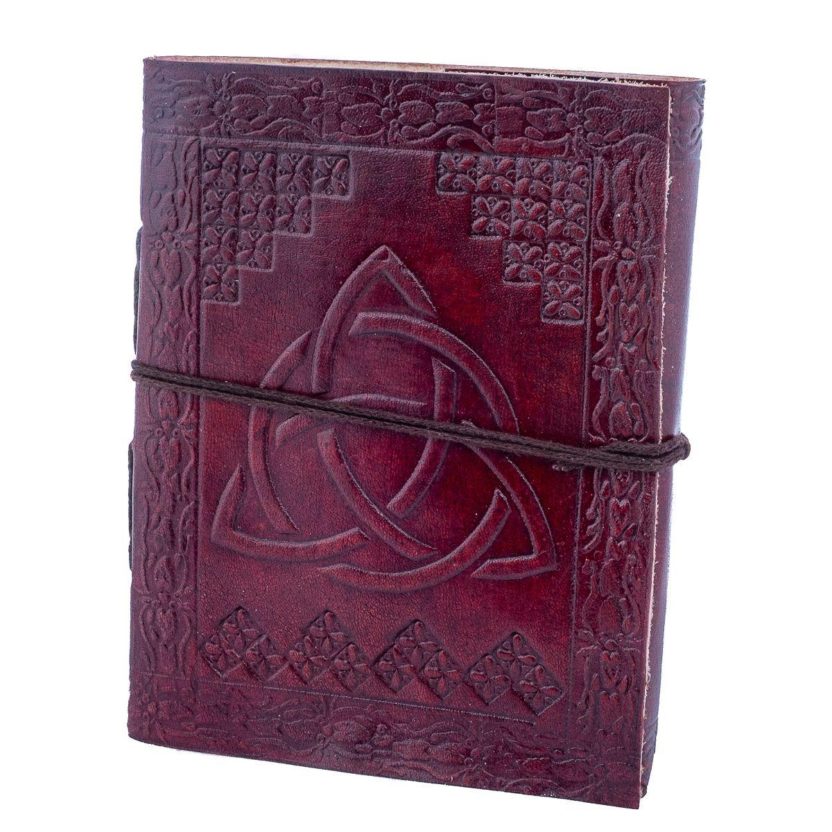 Kožený zápisník Trikvetra India
