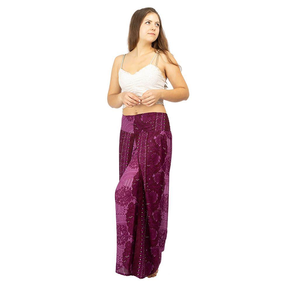 Široké kalhoty Sayuri Orchidea Thailand
