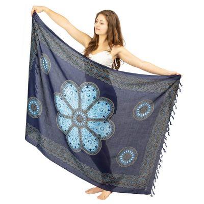 Sarong Květinová mandala modrý