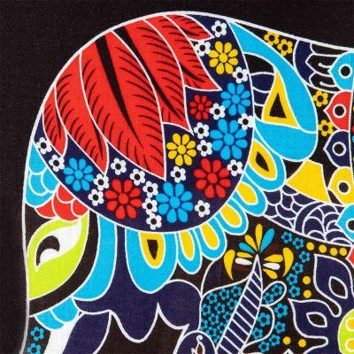 Sarong / pareo Slon fialový Thailand