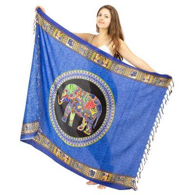 Sarong Slon modrý