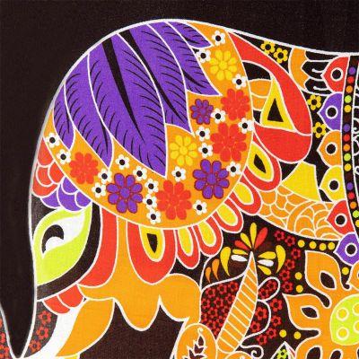 Sarong / pareo Slon oranžový Thailand