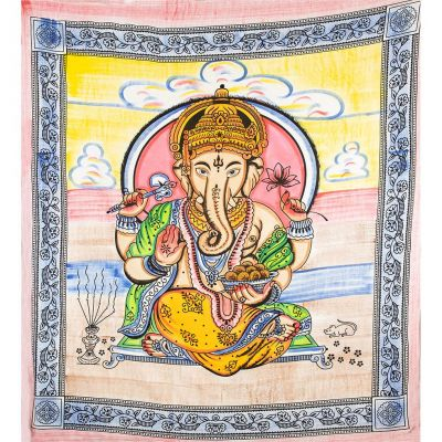 Bavlněný přehoz na postel Ganéša Ladha India