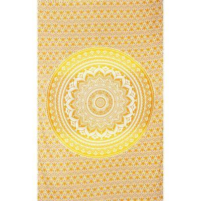 Přehoz Mandala – béžovo-žlutý