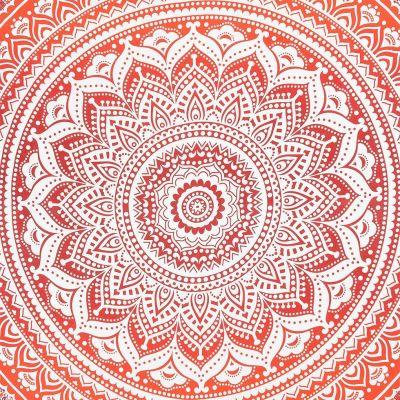 Bavlněný přehoz na postel Mandala – červený India
