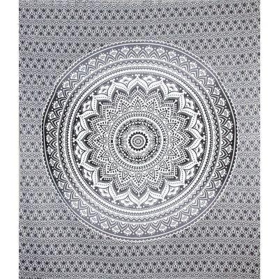 Přehoz Mandala – šedý