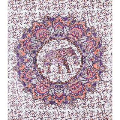 Přehoz Slon v mandale – růžovo-fialový