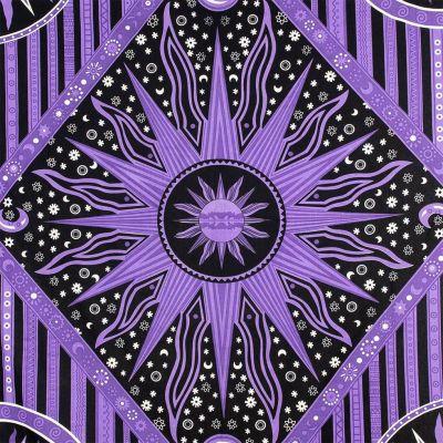 Bavlněný přehoz na postel Vesmír – fialový 2 India