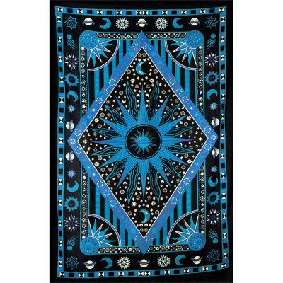 Bavlněný přehoz na postel Vesmír – modrý India