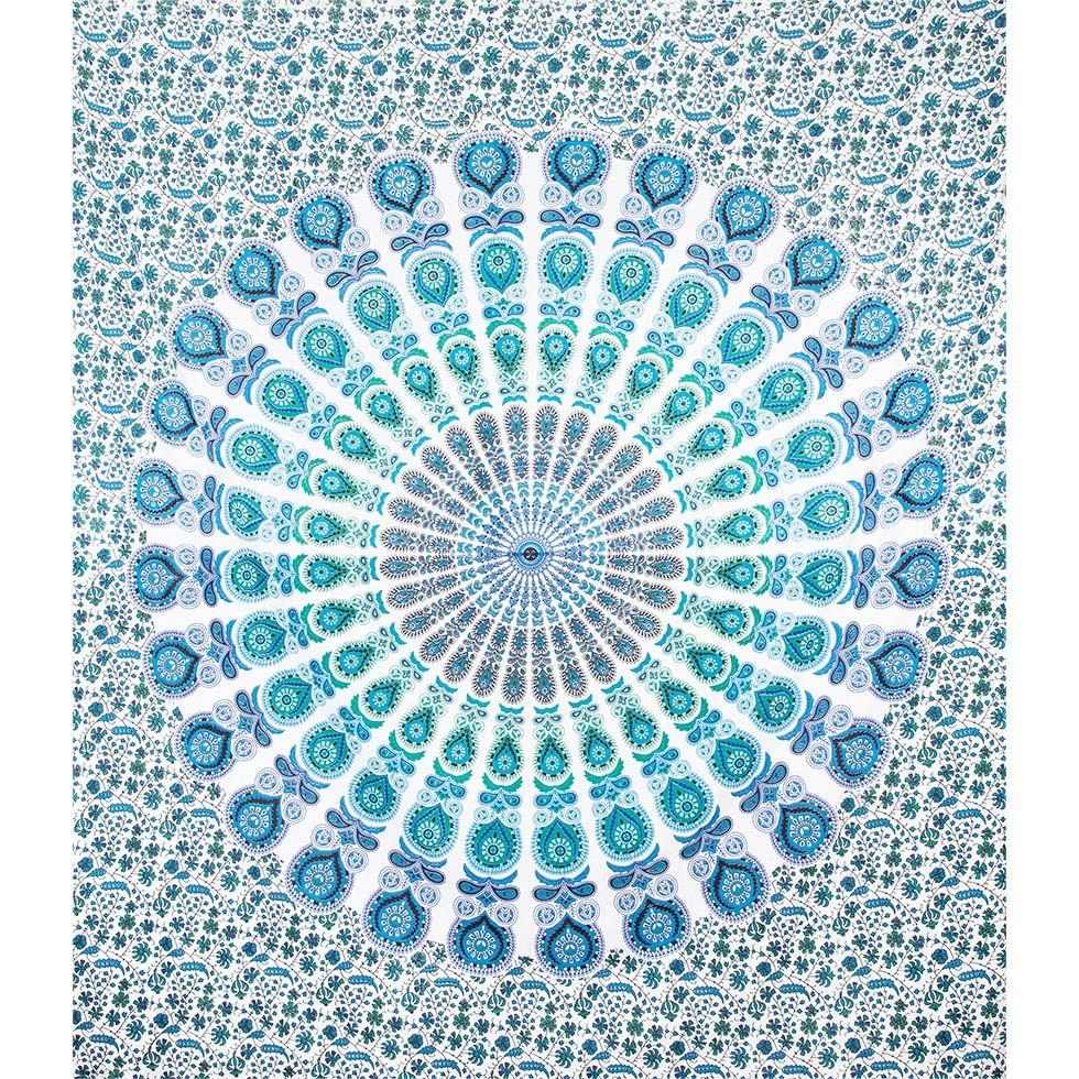 Bavlněný přehoz na postel Větrná mandala India