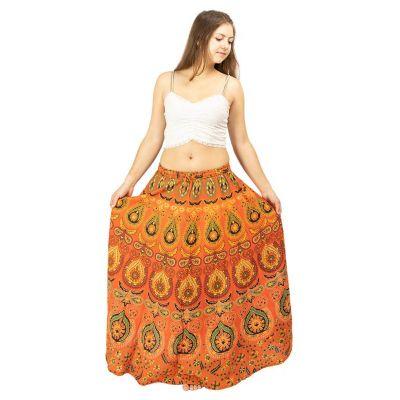 Dlouhá kolová sukně Arwen Orange | UNI