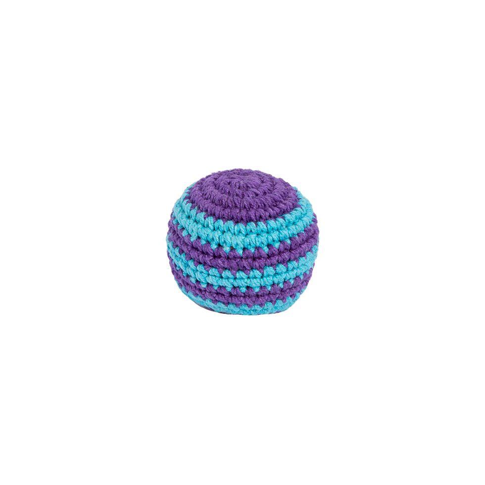 Háčkovaný míček hakisák – Modro-fialový Nepal