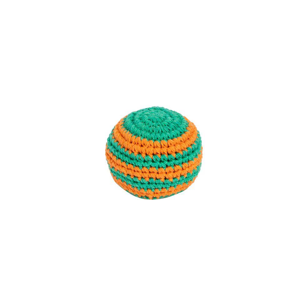 Háčkovaný míček hakisák – Oranž-zelený Nepal