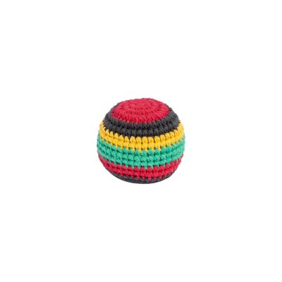 Háčkovaný míček hakisák - Rasta