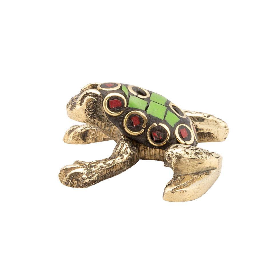 Stojánek na vonné tyčinky Zdobená žabka 1 India