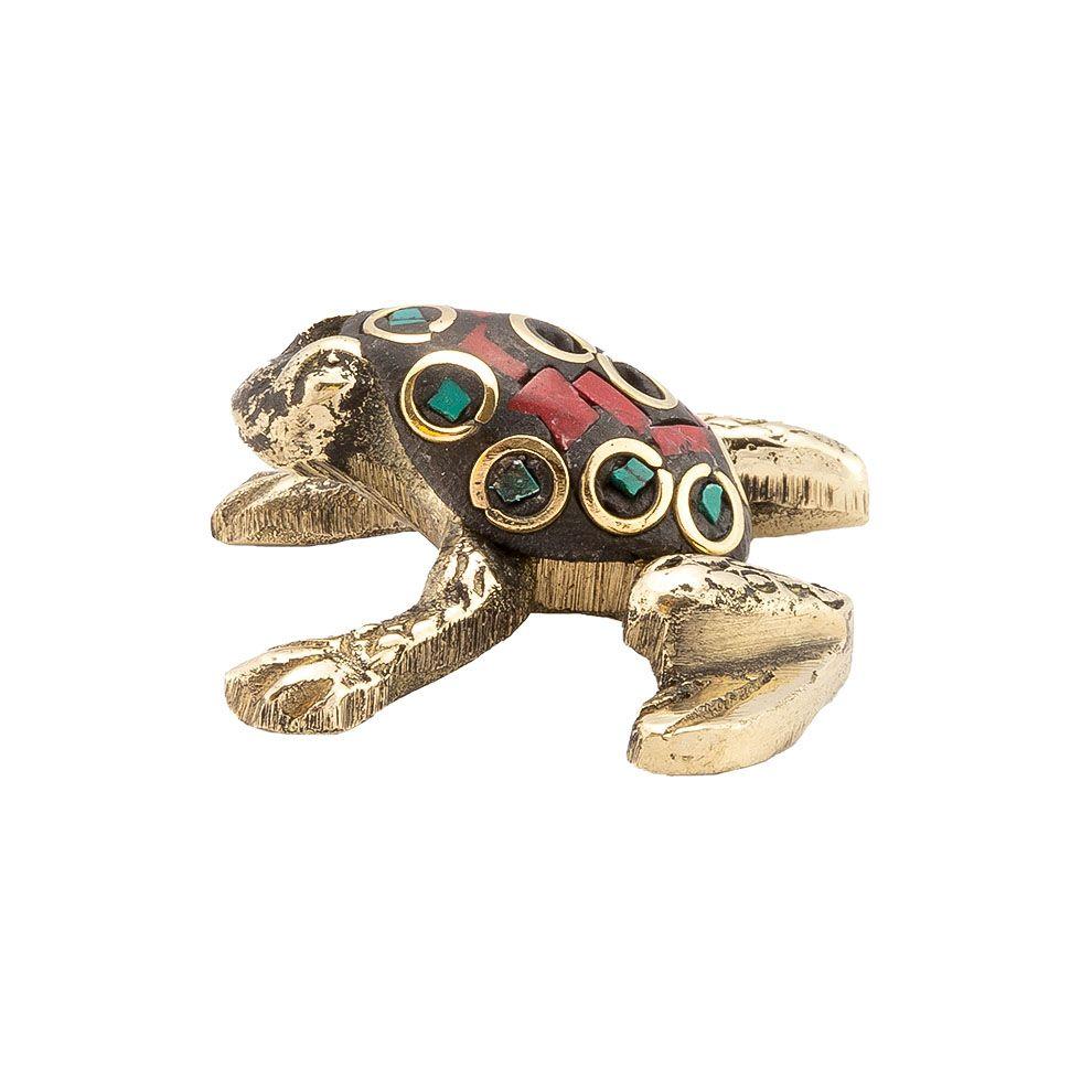 Stojánek na vonné tyčinky Zdobená žabka 3 India