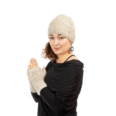 Vlněné návleky na ruce Bardia Cream