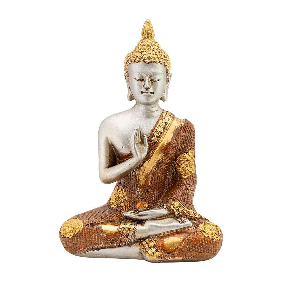 Zdobená soška z pryskyřice Buddha, učitel světa India