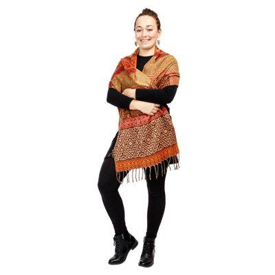 Akrylová šála Manju Reti India