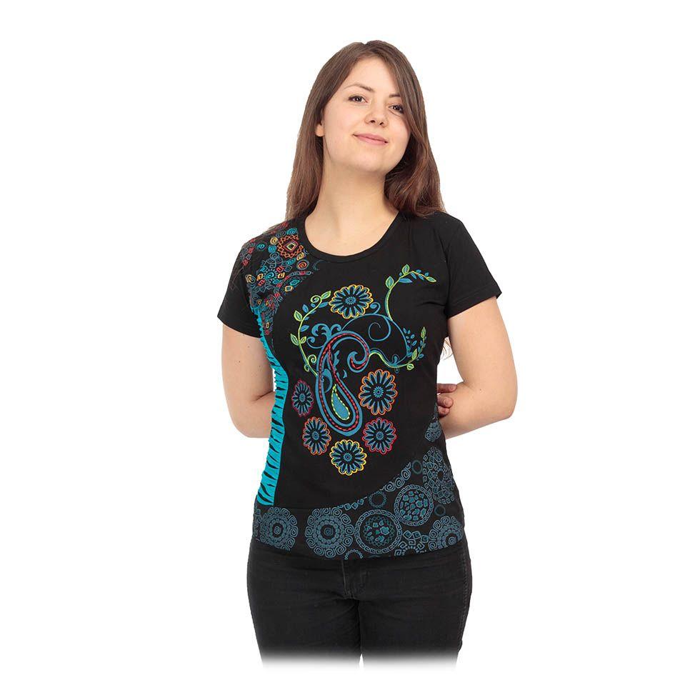Dámské etno tričko s krátkým rukávem Maridah Nepal